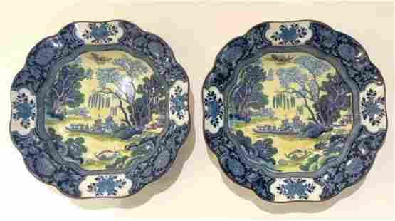 Two English bowls with Chinese design