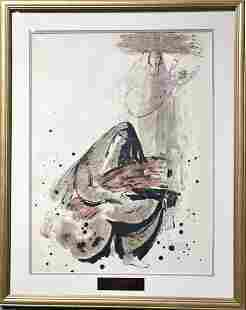 Mothers and Babies lithograph by Reuven Rubin
