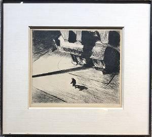 Edward Hopper etching Night Shadows 1921
