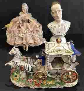 Miscel European porcelain items