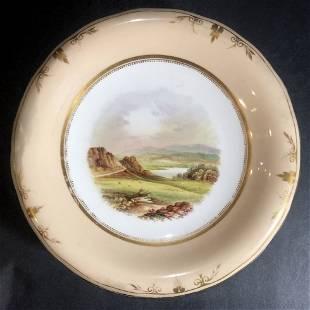 Coalport scenic cake dishc1880