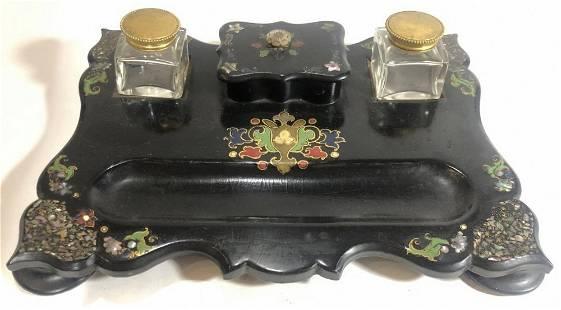 Lacquer inkstandc1880