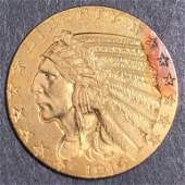 Indian head five dollar American gold coin 1914