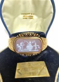 Ex rareTiffany & Co bracelet with cupid cameo,c.1880
