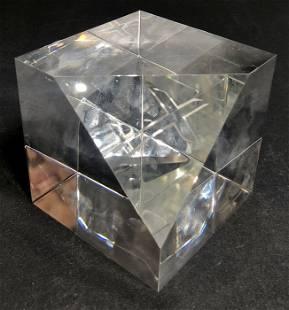 Steuben crystal paperweight in orig box