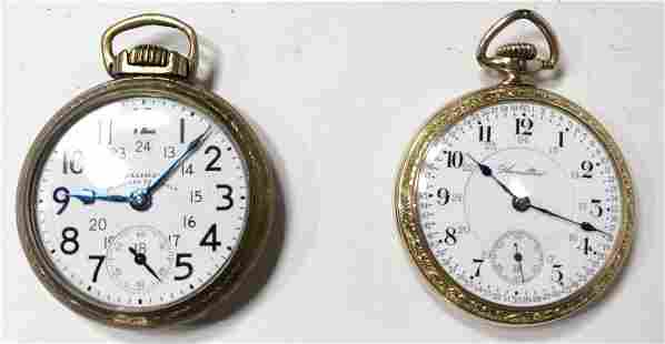 Two gold filled pocket watches