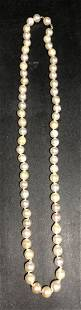 Cultured pearl necklace with 14k hidden clasp