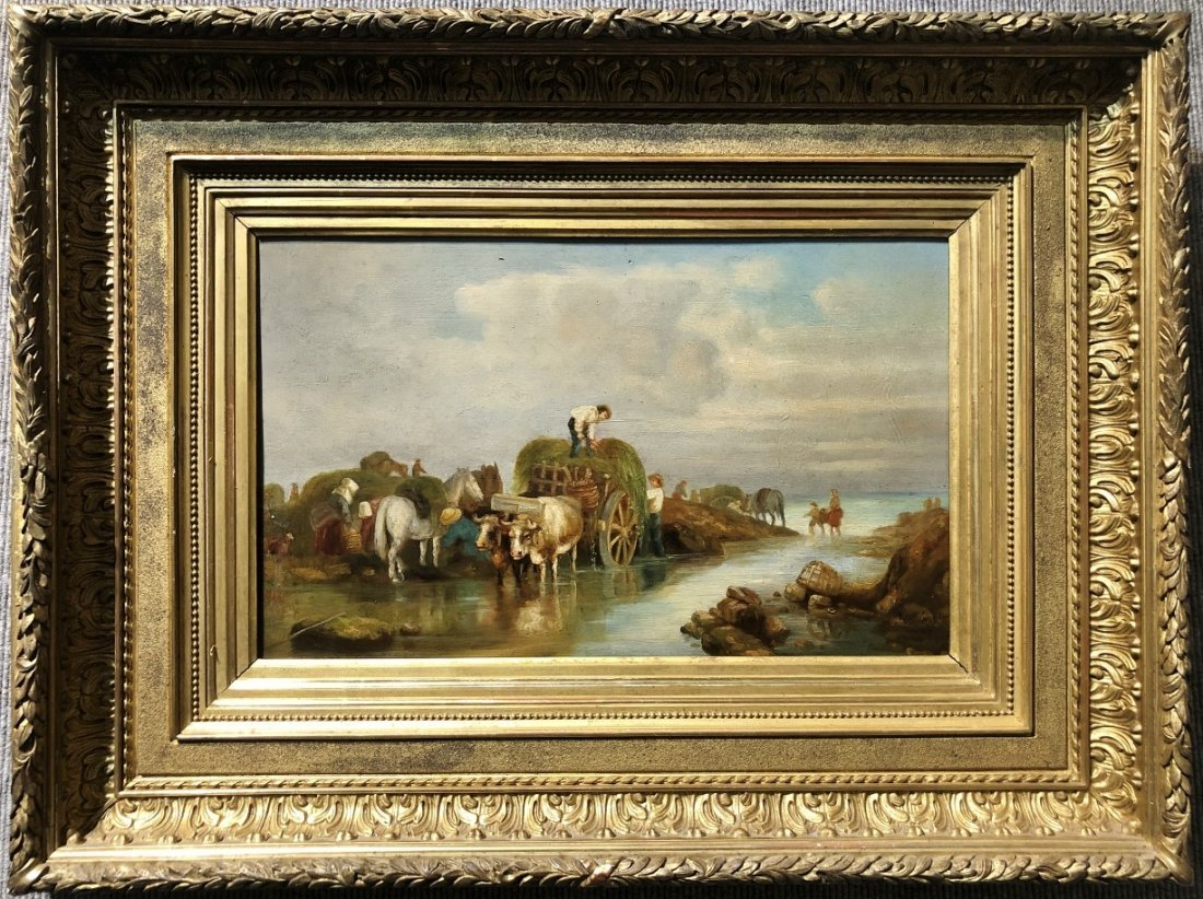 Painting of horses and farmers after Rosa Bonheur