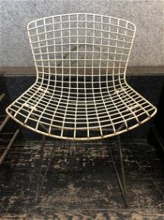 Harry Bertoia side chair with rust