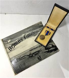 Bombs Away book and flying medal