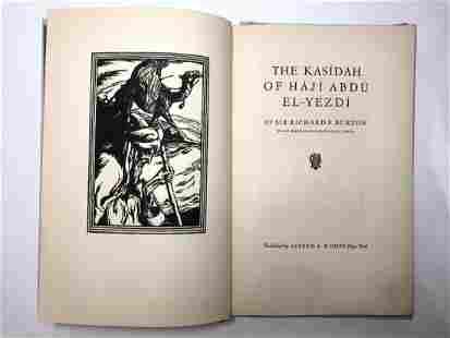 Kasidah of Haji by Sir Richard Burton1st