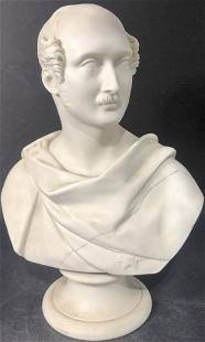 Worcester bisque bust with staples of Prince Albert