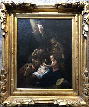18th/19th century painting, Holy Family