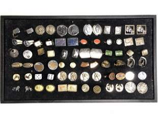 36 pairs of cufflinks with display tray