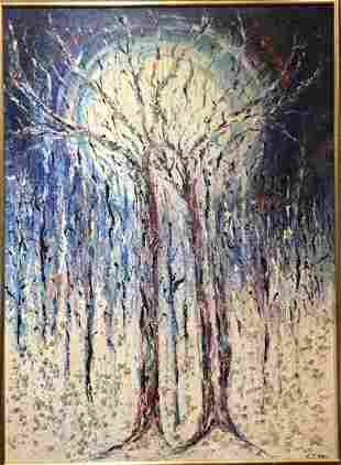 Abstract ptg of tree,Kris Kersen(French/American)