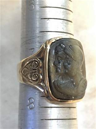 14k mans cameo ring
