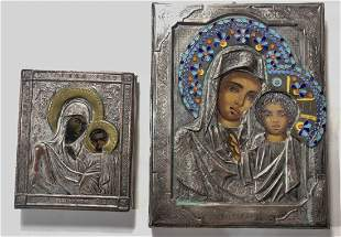 Two Russian or Greek icons
