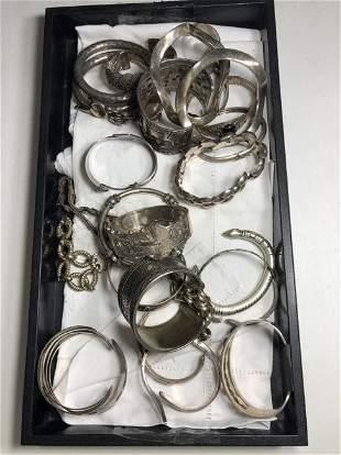 Twenty six silver bracelets,Sam