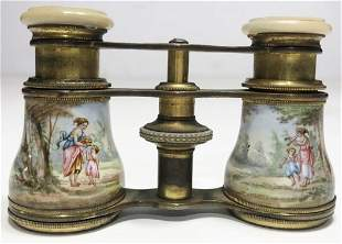 Enamel binoculars, c.1900