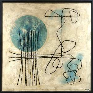 Abstract painting by Lula Cardoso Ayers,1960