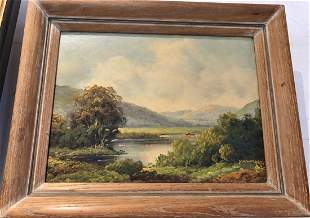 Castskill lake painting by Paul Wesley
