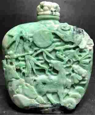 Chinese jade snuff bottle (large)