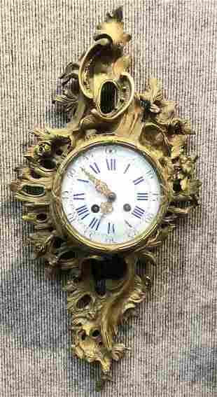 Louis XV style wall clock,circa 1940.