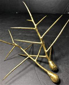 Pair of gilt metal sculptures by Michelle Oka Doner