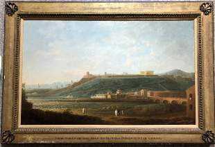 Painting: On the Road...Genoa,18th/19th century