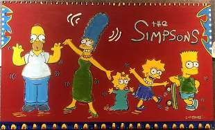 Painting of the Simpsons by Lisa Grubb