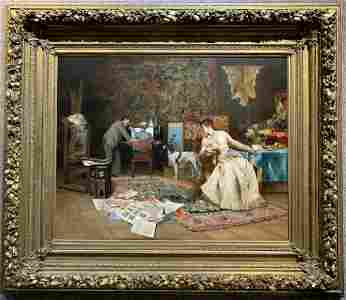 Important Ptg, The Artists Studio, by Armand Toussaint