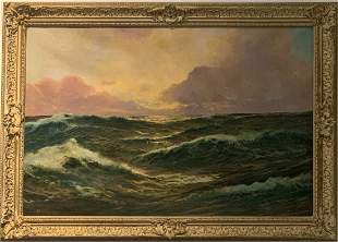 Painting of the ocean signed Brooks, c.1900