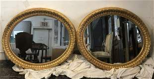 Pair large giltwood mirrors, c.1900 but possibly 18thc