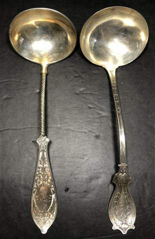 Two sterling American ladles, 13.6 t. oz