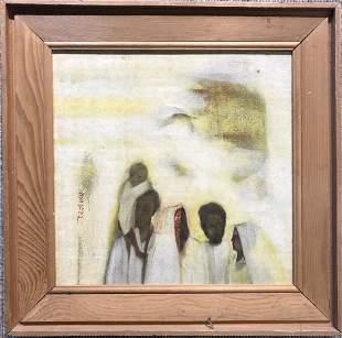 Painting of desert people attrib Theodoros Stamos