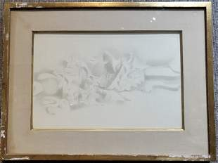 Drawing of still life by Earl Stroh, Taos artist