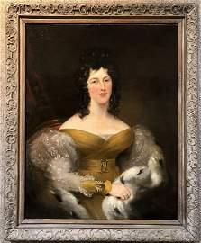 18th/19thc Old Master painting, elegant lady