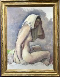 Painting of a partially nude woman by Leon Kroll
