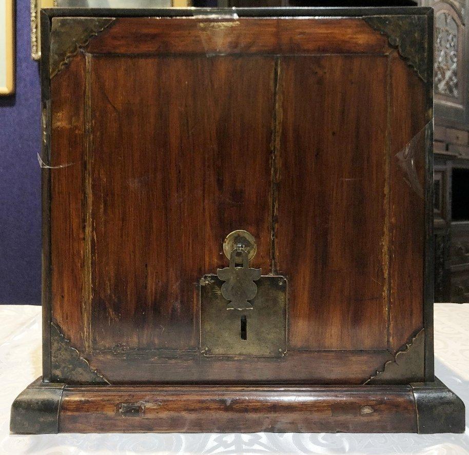 Chinese wood document box, c.1900