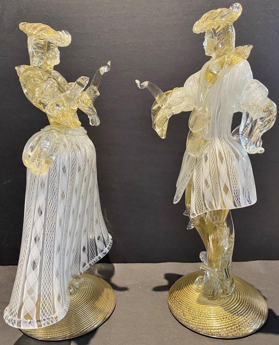 Pair of Venini blown glass figurines