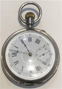 800 silver pocket watch 42 toz