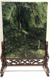 Chinese jade plaque, forest, c.1930