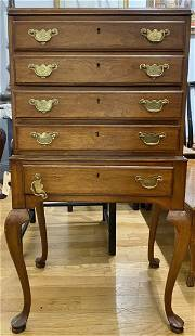 Wood jewelry cabinet four drawersc1960