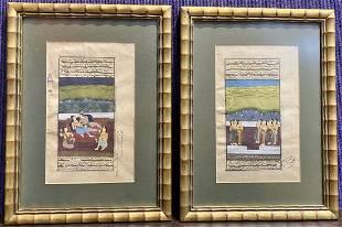 Two Persian or Indian watercolorsc1910