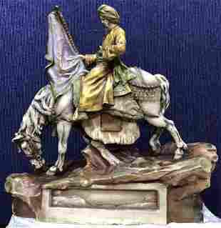 Amphora Arab on horse, c.1925