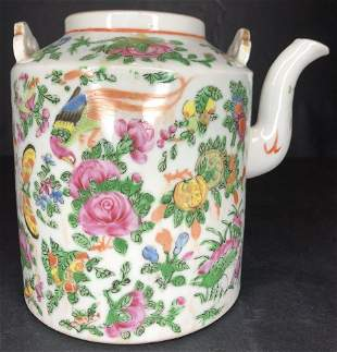 Chinese porcelain teapot missing lid