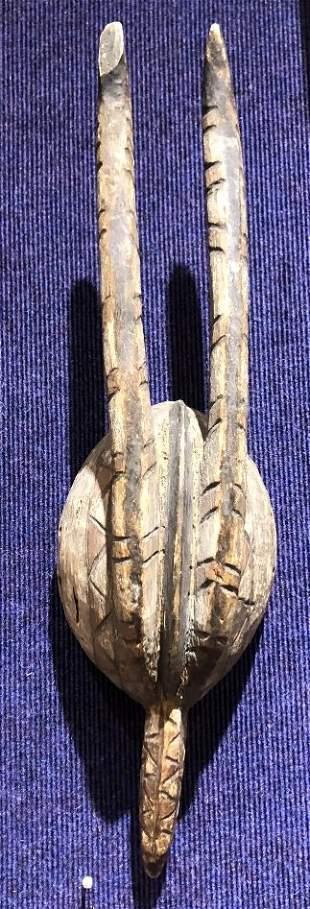 Tribal wood mask Antelope