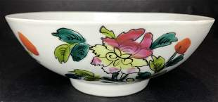 Chinese flower bowl