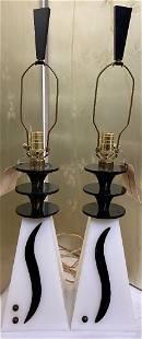 Pair of modern lamps