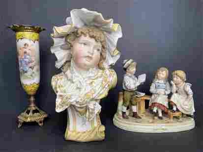 Three European porcelain items